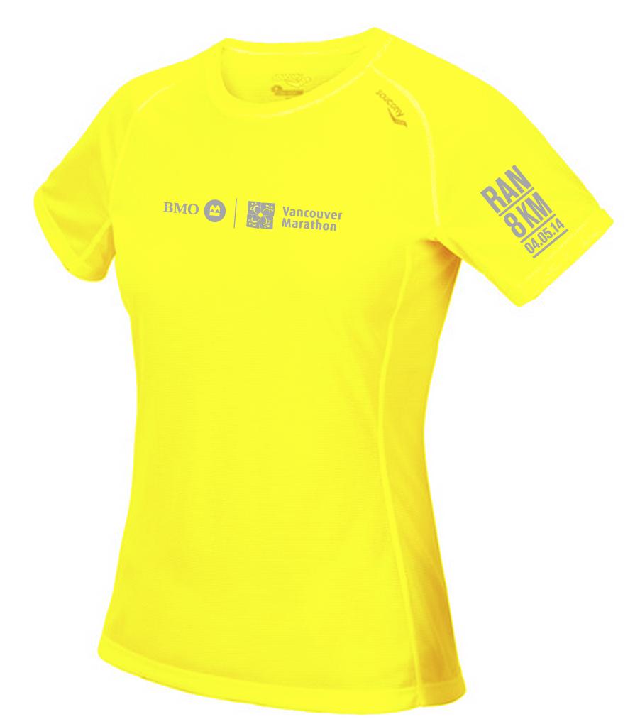 2014 BMO Vancouver 8KM Saucony Tech Shirt