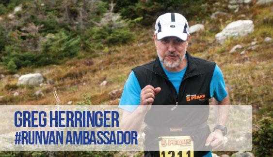 RUNVAN Ambassador Greg Herringger