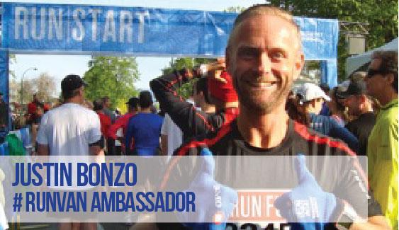 RUNVAN Ambassador Justin Bonzo